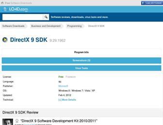 directx-software-development-kit.en.lo4d.com screenshot