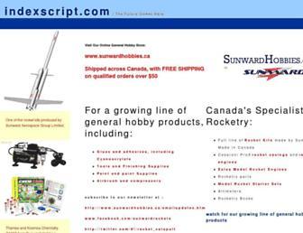 Fullscreen thumbnail of indexscript.com