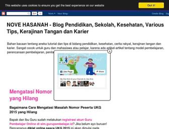 novehasanah.blogspot.com screenshot