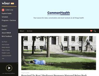 Main page screenshot of commonhealth.wbur.org