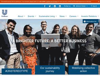 unilever.com screenshot