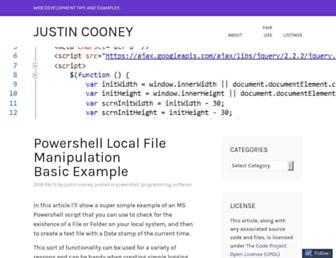 jwcooney.com screenshot