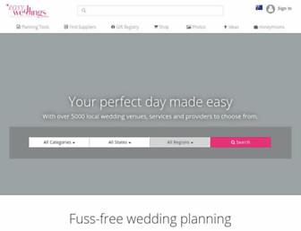 easyweddings.com.au screenshot