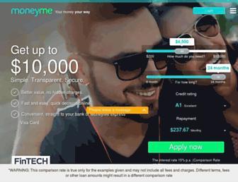 moneyme.com.au screenshot