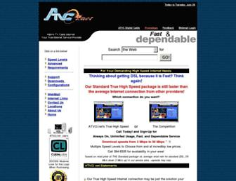 Main page screenshot of atvci.net