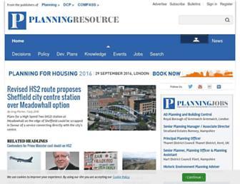 Thumbshot of Planningresource.co.uk