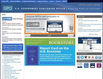 gpo.gov screenshot