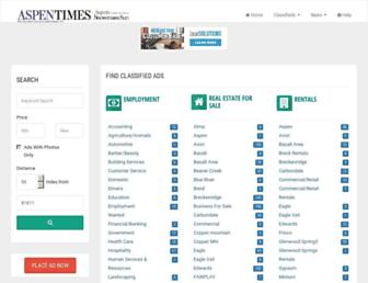 classifieds.aspentimes.com screenshot