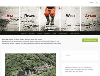 Main page screenshot of arawa.fm