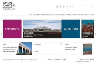 Main page screenshot of cartermuseum.org