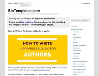 biotemplates.com screenshot