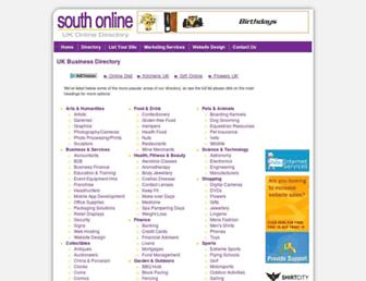 Main page screenshot of south-online.co.uk
