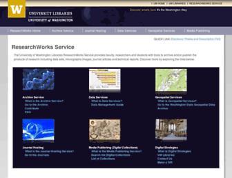 digital.lib.washington.edu screenshot
