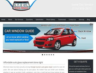 alfaautoglass.com screenshot