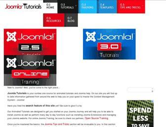 joomlatutorials.com screenshot