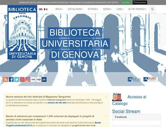 bibliotecauniversitaria.ge.it screenshot