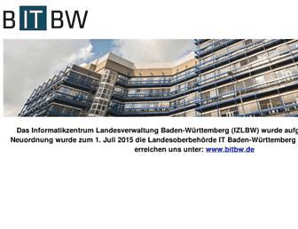 Main page screenshot of izlbw.de