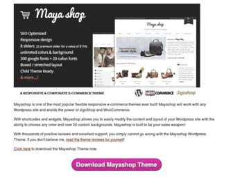 mayashop.com screenshot