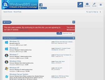 windowsbbs.com screenshot