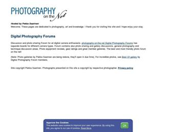 Main page screenshot of photography-on-the.net