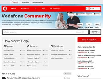 community.vodafone.co.nz screenshot