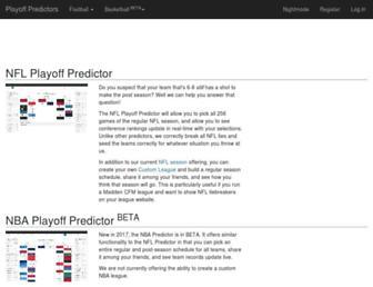 playoffpredictors.com screenshot