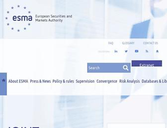esma.europa.eu screenshot