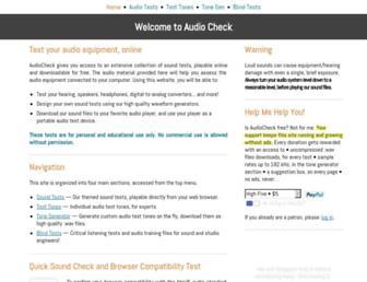 audiocheck.net screenshot