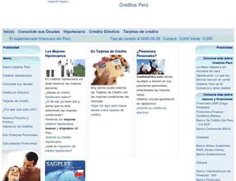 Main page screenshot of creditosperu.com.pe