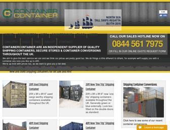 containercontainer.com screenshot