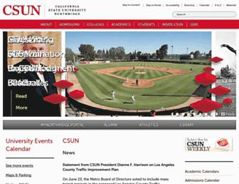csun.edu screenshot