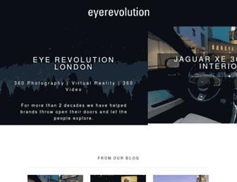 Main page screenshot of eyerevolution.co.uk