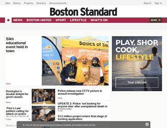 Main page screenshot of bostonstandard.co.uk