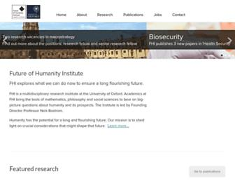 Main page screenshot of fhi.ox.ac.uk