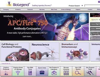 biolegend.com screenshot