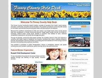 Main page screenshot of finneycountyhelpdesk.org