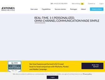 exponea.com screenshot