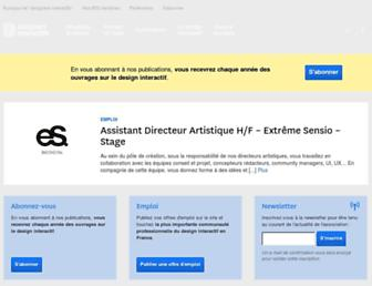 Main page screenshot of designersinteractifs.org