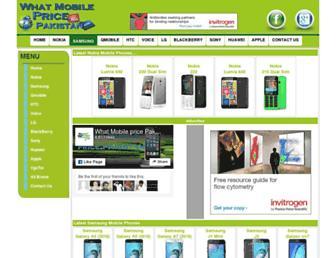 Thumbshot of Whatmobilepricepakistan.com