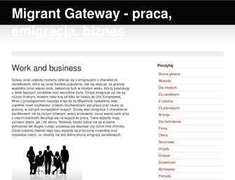 Main page screenshot of migrantgateway.eu
