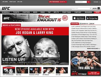 Screenshot for ufc.ca
