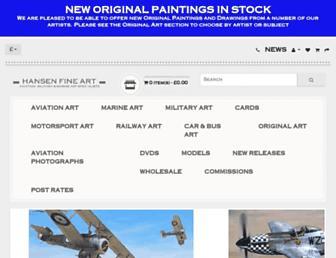 hansenfineart.co.uk screenshot