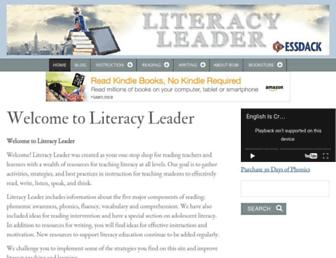 literacyleader.com screenshot
