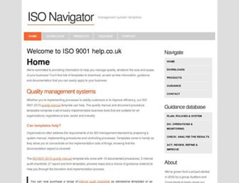 iso9001help.co.uk screenshot