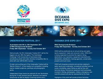 Screenshot for underwaterfestival.org