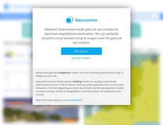 Main page screenshot of weeronline.nl