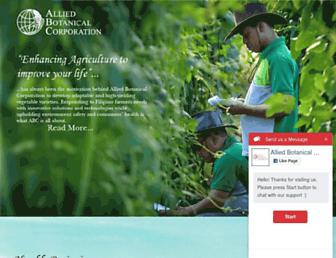 alliedbotanical.com screenshot