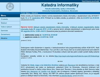 dcs.fmph.uniba.sk screenshot