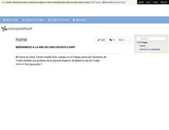 carloscastilloart.wikispaces.com screenshot