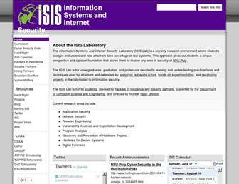 Main page screenshot of isis.poly.edu